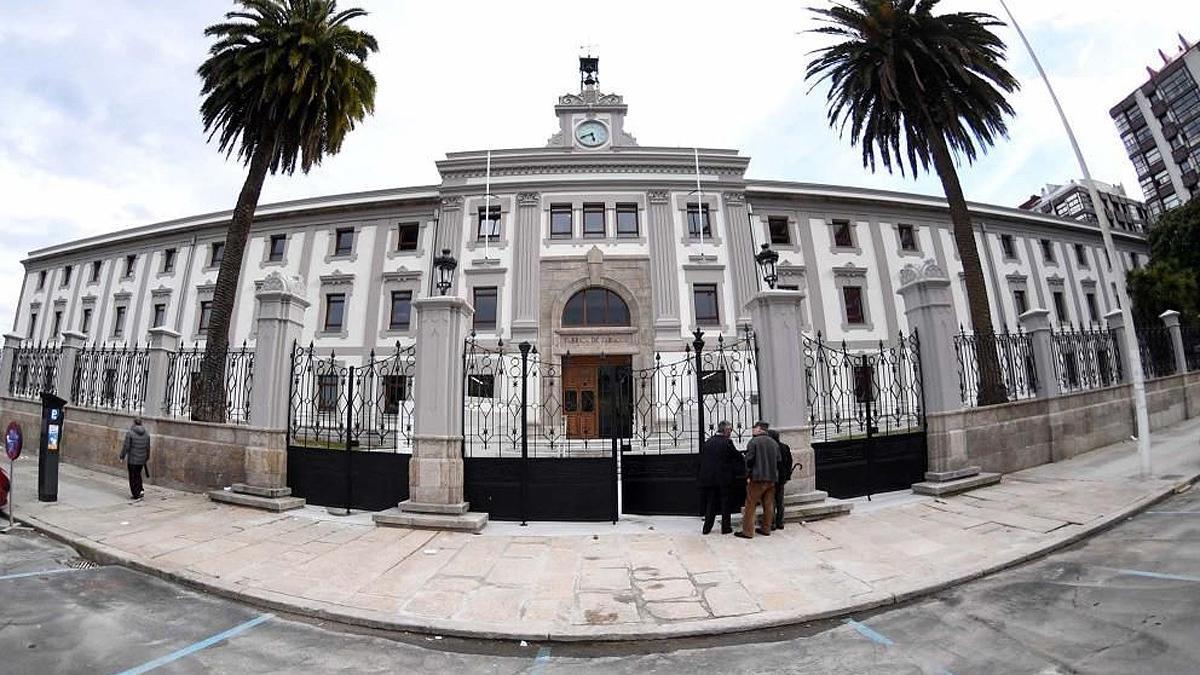 Una imagen de la sede de la Audiencia de A Coruña.