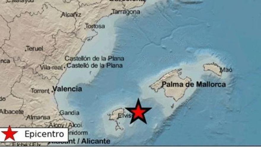 Registrado un terremoto en la costa de Ibiza