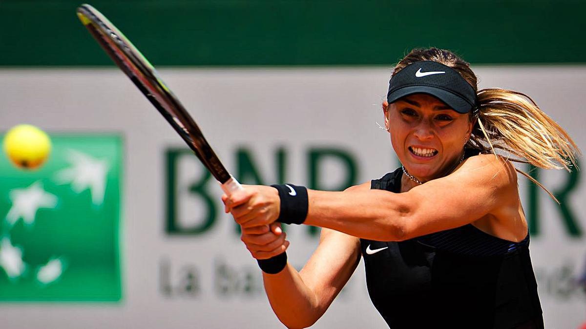Paula Badosa, durante su partido de ayer en Roland Garros. |  // EUROPA PRESS