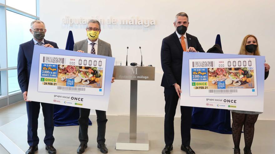 El cupón de la ONCE del 24 de febrero tendrá Sabor a Málaga