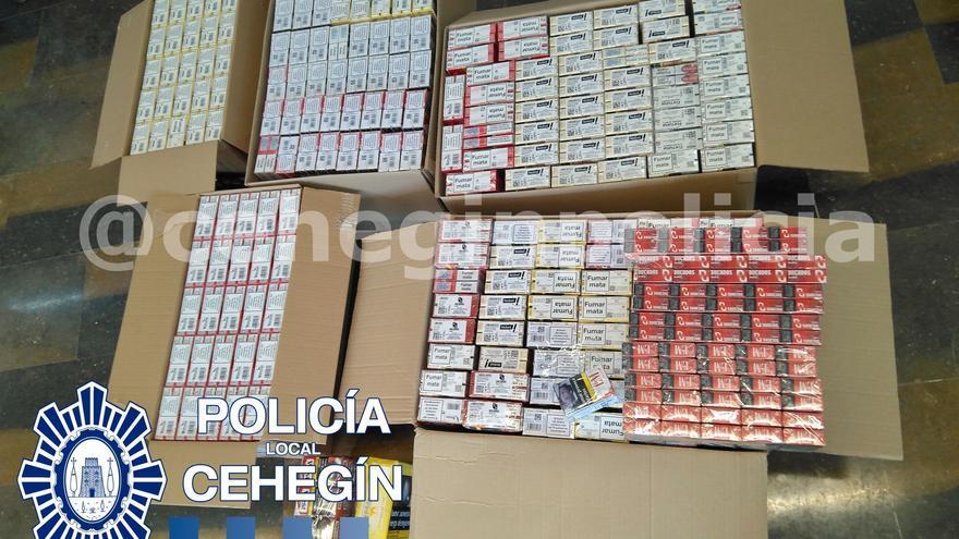 La Policía Local de Cehegín desarticula una organización dedicada a la distribución ilegal de tabaco