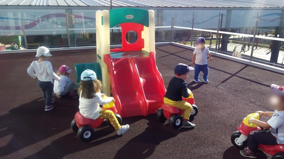 Menores de la escuela infantil municipal de Navia