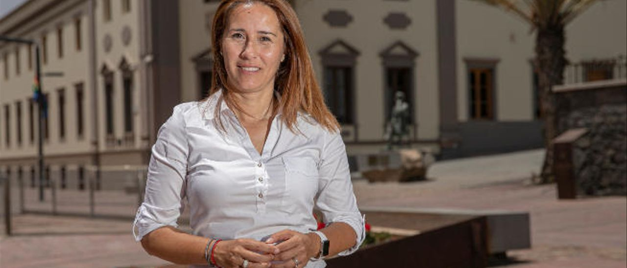Lola García Martínez, portavoz de Coalición Canaria (CC) en el Cabildo de Fuerteventura.