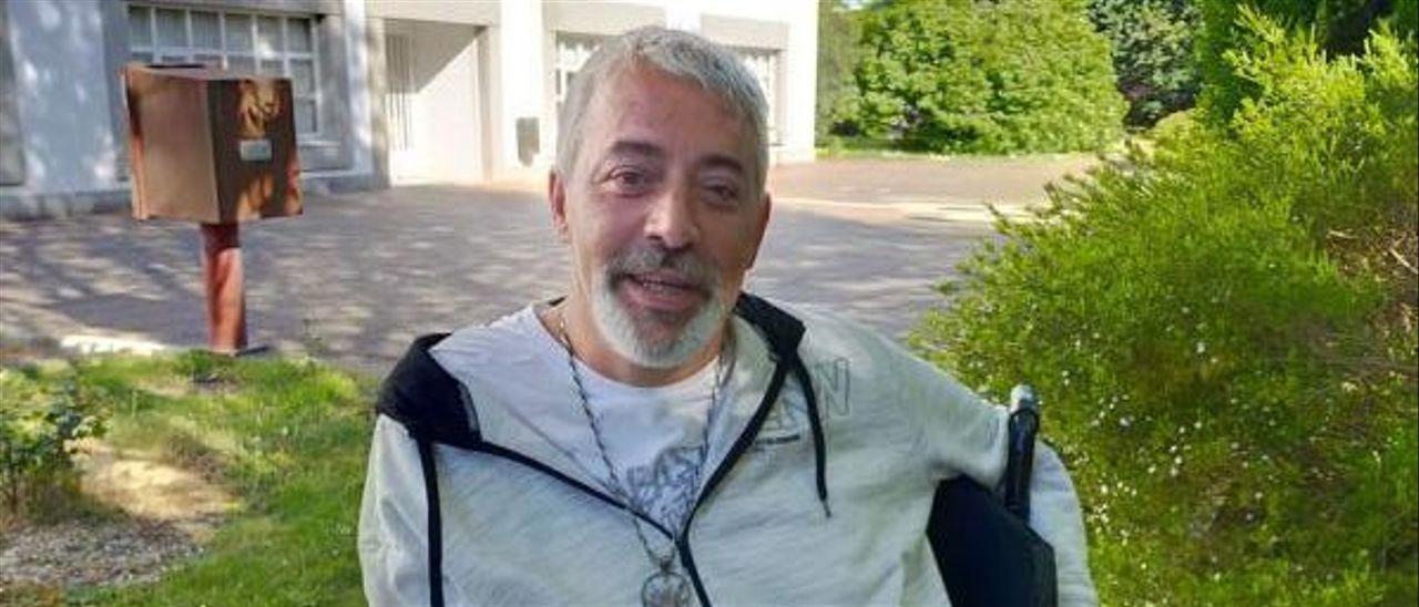 El coruñés Juan Manuel Rodríguez Gantes, que vive en un centro en Ferrol.