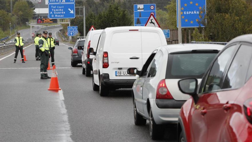 La Guardia Civil activa el control permanente en la frontera con Portugal por el cierre de Galicia durante el puente