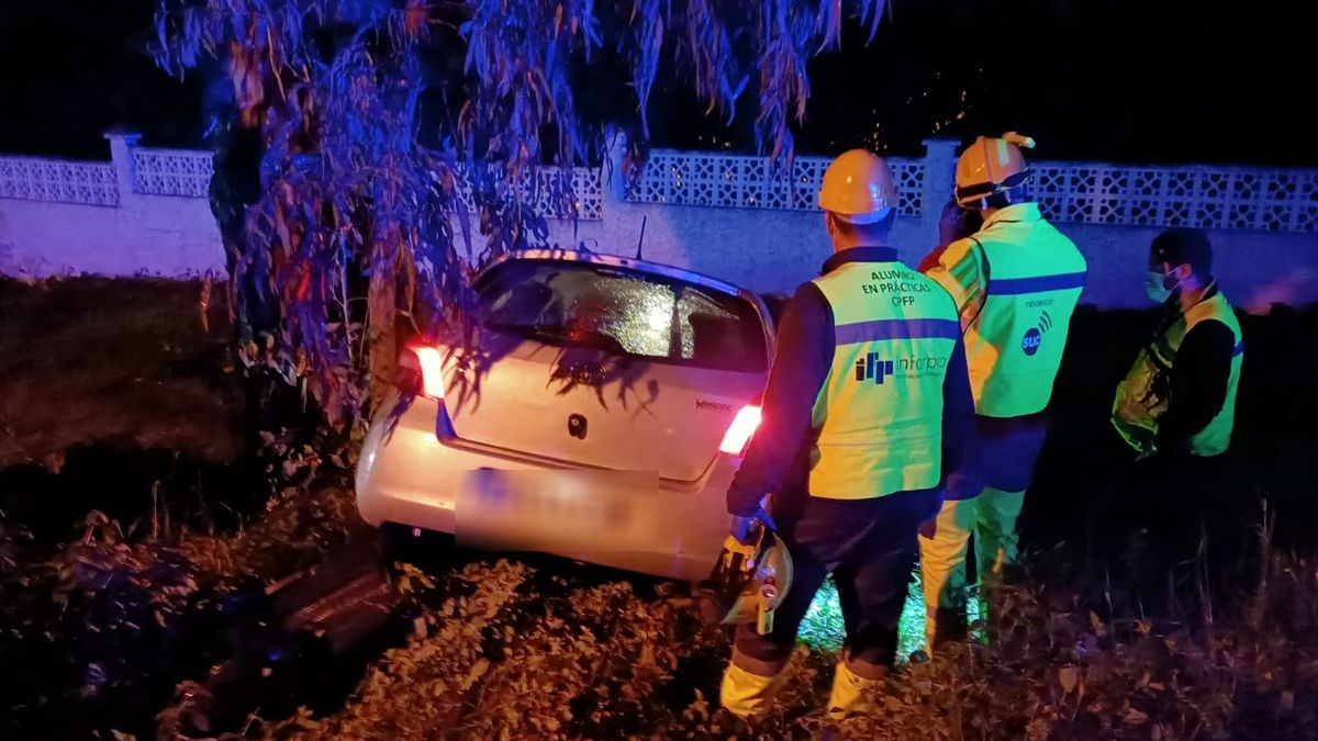 Accidente en Santa Brígida