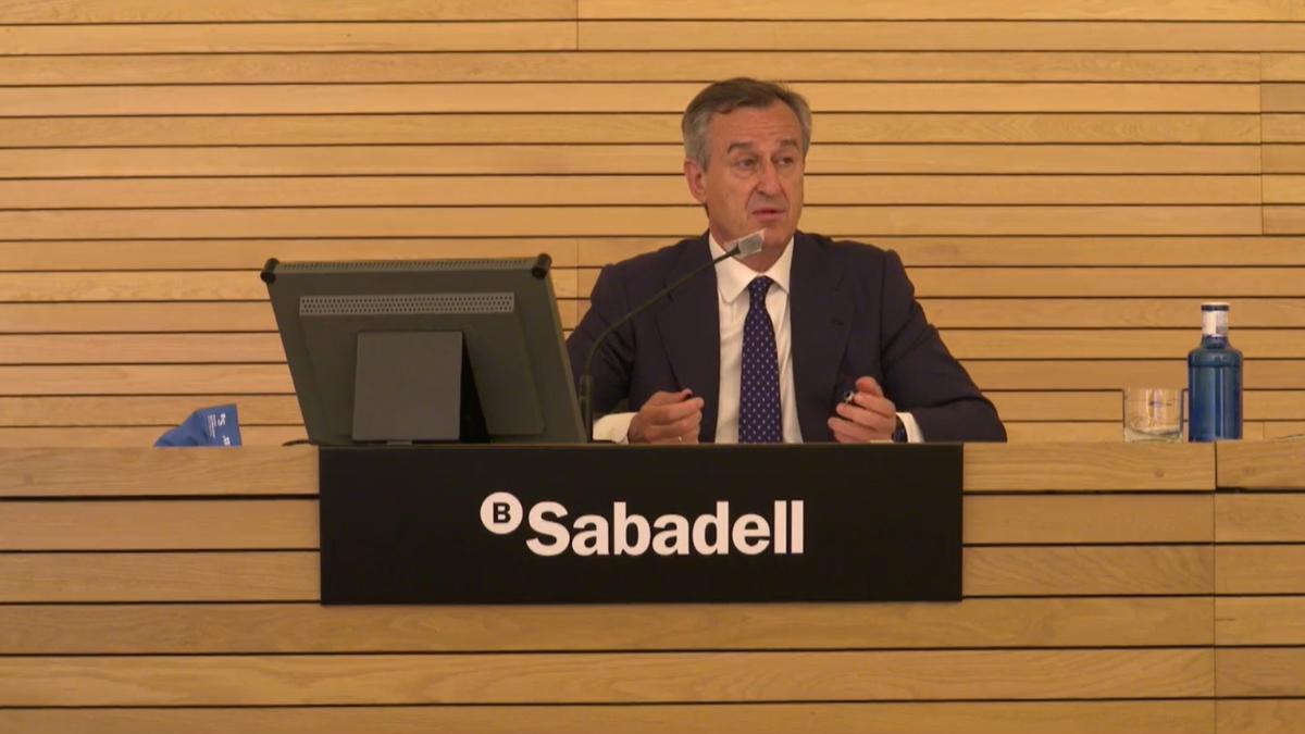 El consejero delegado de Banco Sabadell, César González-Bueno.