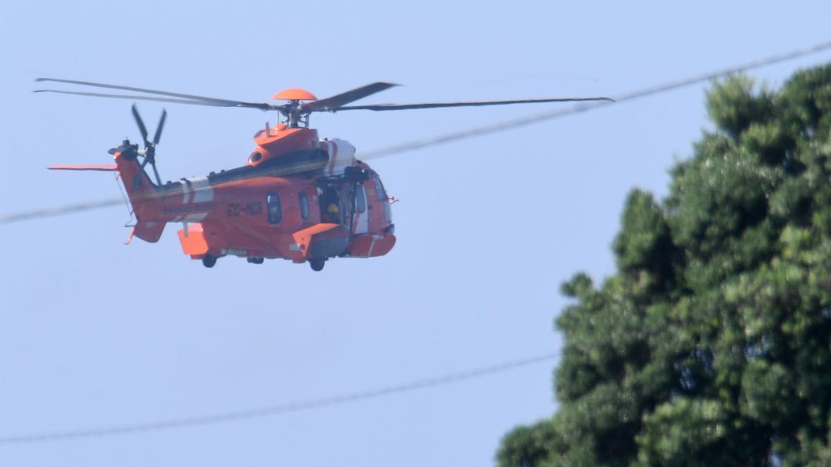 El helicóptero 'Helimer' de Salvamento Marítimo.