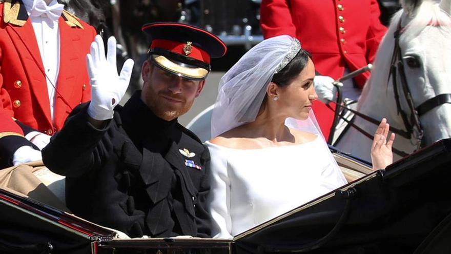 Más de 2,3 millones de españoles vieron la boda del príncipe Harry y Meghan