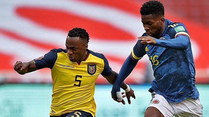 El exgranota Jefferson Lerma y James, a puñetazos tras el 6-1 ante Ecuador