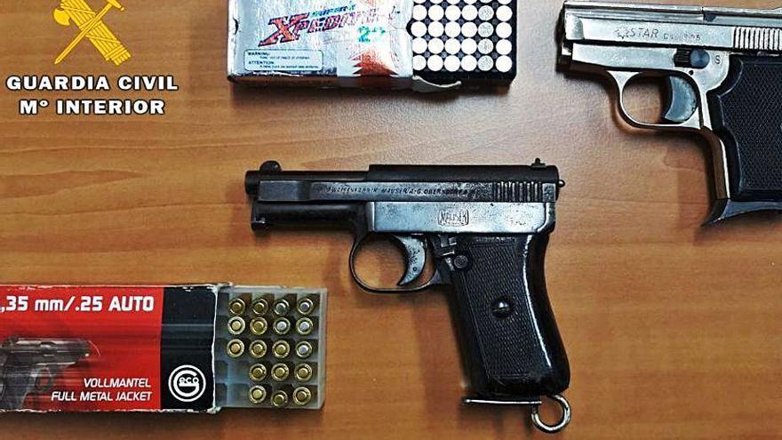 Un detenido en Mombuey por tenencia ilícita de armas de fuego