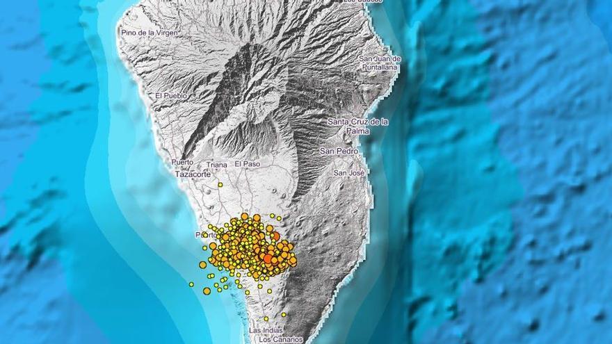 Disminuyen los terremotos en La Palma desde la pasada madrugada