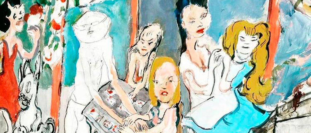 Una muesta de la obra de Jhon Mortimer que se expone en la galería Pablo De Lillo.