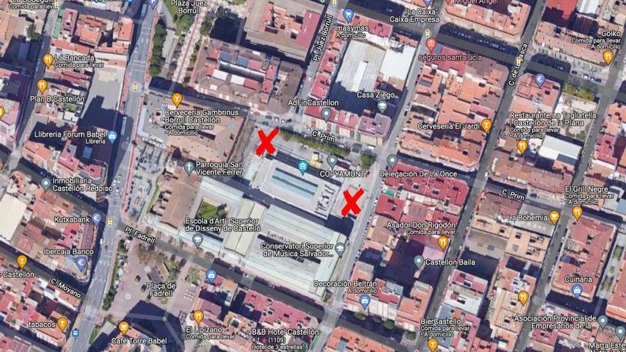 Una noche de altercados con dos peleas en el centro de Castelló