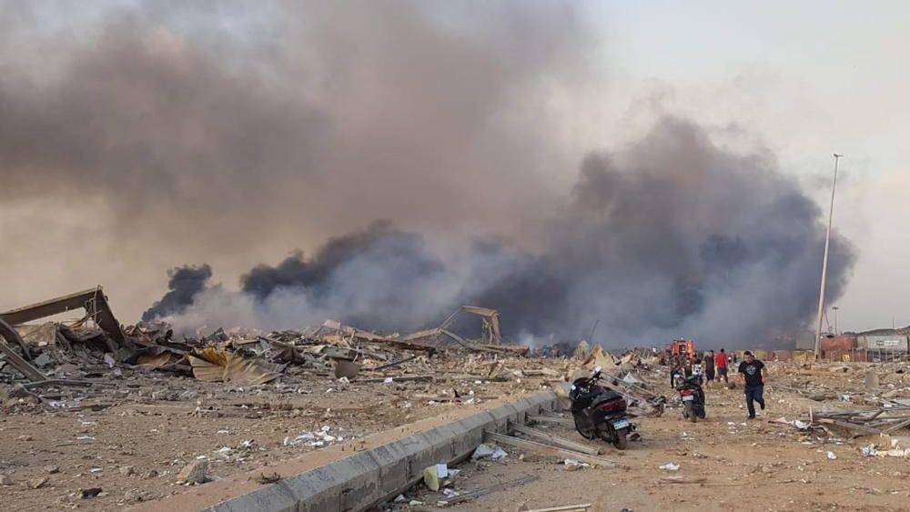Explosion rocks Beirut port