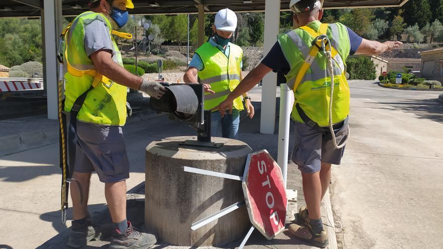 El Consell desmantela la estación de peaje del túnel de Sóller