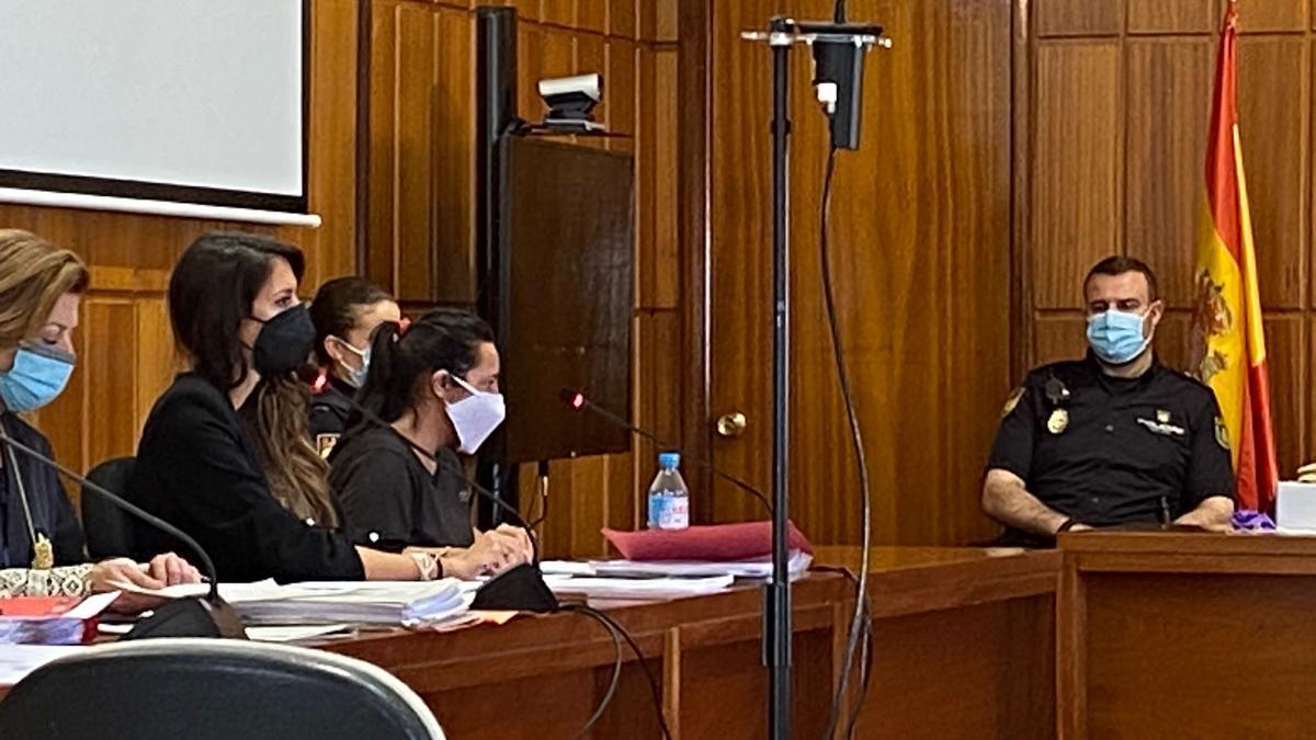 La procesada, durante el juicio, este lunes.