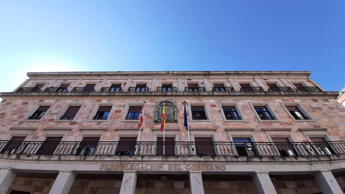 Fachada de la Subdelegación del Gobierno de Zamora