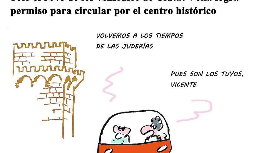 Solo el 30% de los vehículos de Ciutat Vella logra permiso para circular por el centro histórico