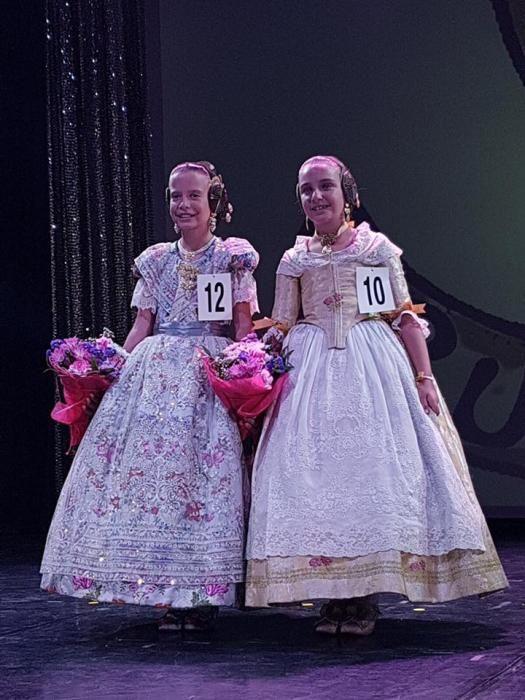Alba y Andrea, las dos candidatas ruzafeñas infantiles.