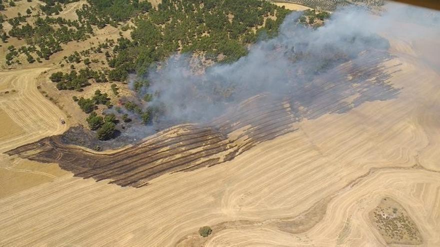 Extinguido el incendio declarado en Campillos