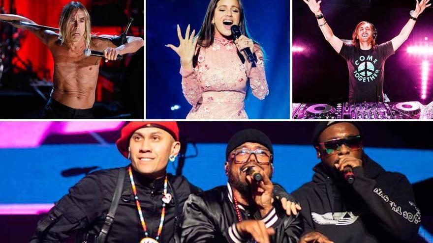Black Eyed Peas, Iggy Pop, David Guetta, Rosalía y Vetusta Morla, las estrellas de O Son do Camiño