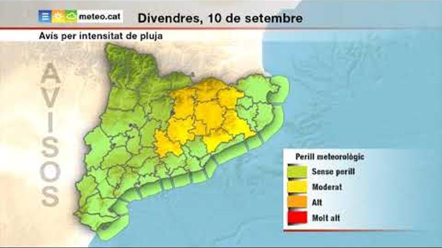 Divendres plujós a tot Catalunya