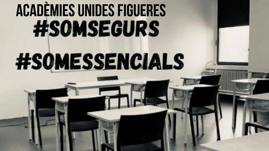 Les acadèmies privades de Figueres reivindiquen el seu dret a obrir