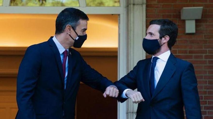 Pablo Casado reclama a Sánchez que aprofiti el Consell Europeu per impulsar l'extradició de Puigdemont