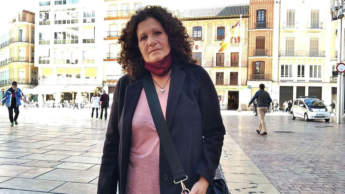 Cristina Nicolás, esta semana en el Centro de Málaga.