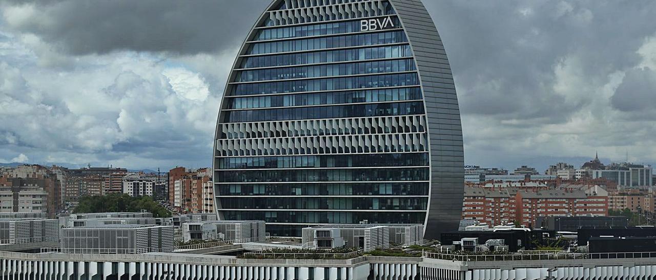 La sede de los servicios corporativos de BBVA en Madrid.  | EUROPA PRESS