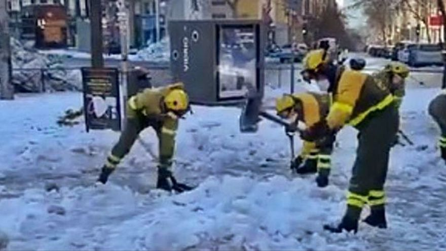 Del fuego al hielo: BRIF Laza ayuda en Madrid