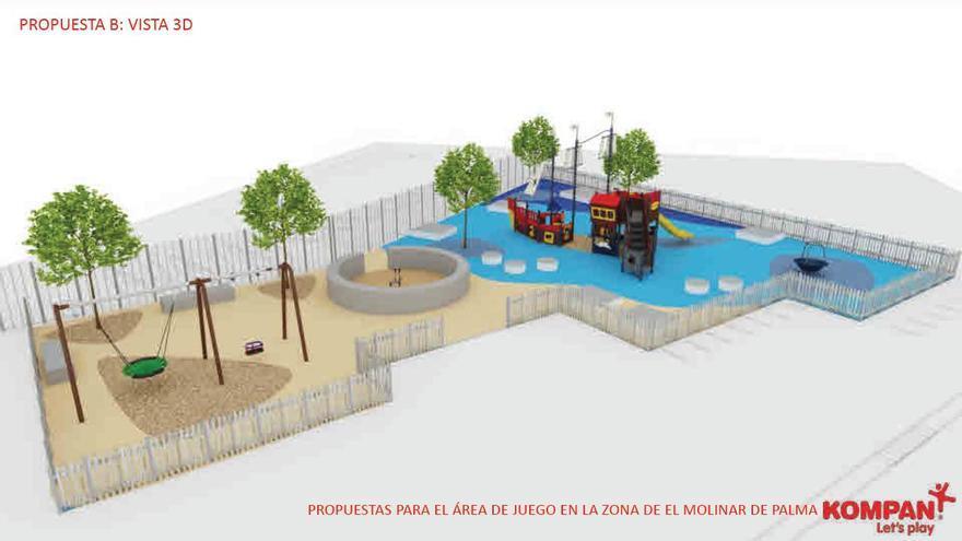 La APB inicia la construcción de una zona de juegos para niños en el Port del Molinar