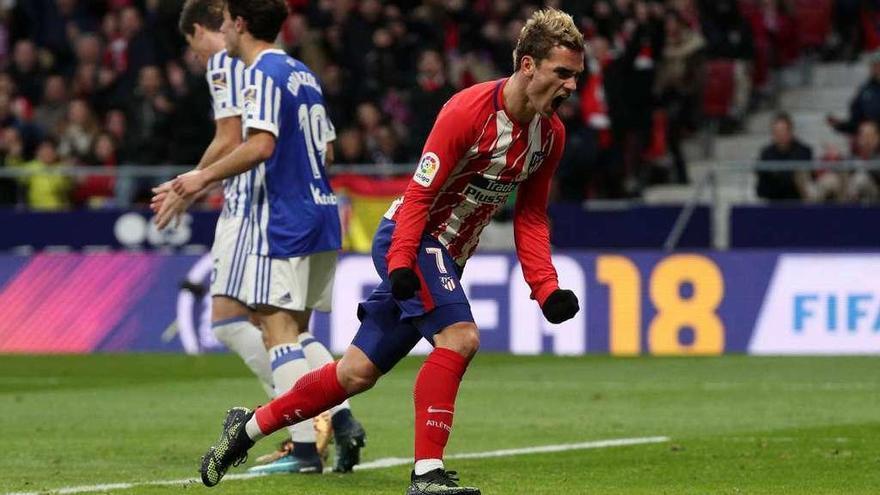 Un gol de Griezmann coloca al Atlético cerca del liderato