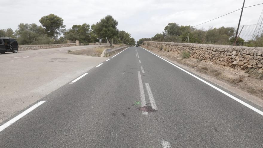 El motorista muerto en Llucmajor fue arrollado tras esquivar a un ciclista sin luces ni reflectantes