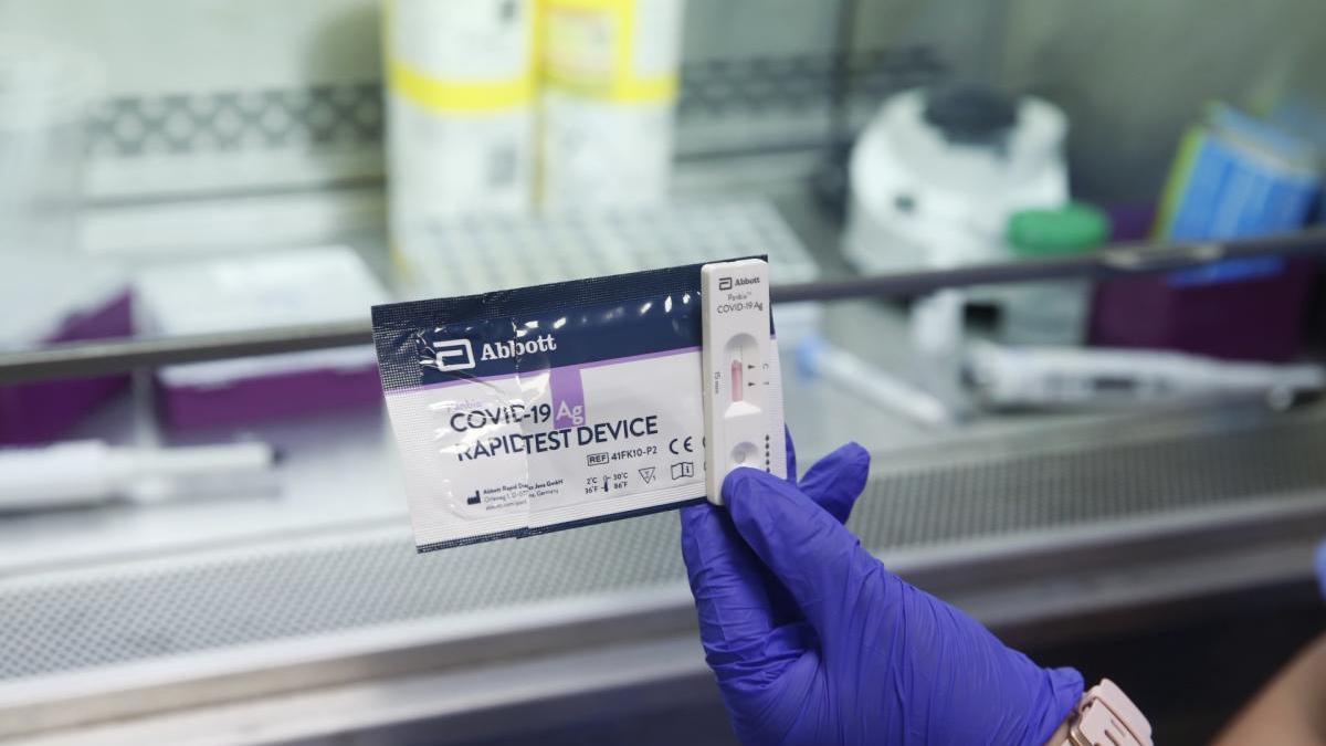 Nuevos test rápidos para detectar el coronavirus en el Hospital General de Valencia.