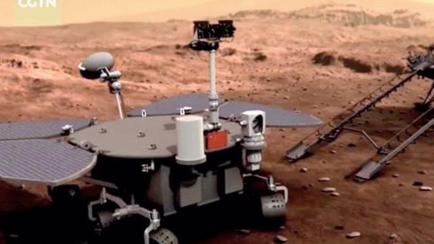 La sonda China Tianwen-1 aterriza en Marte
