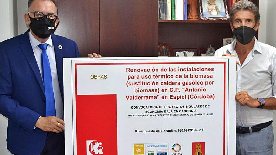 El colegio Antonio Valderrama de Espiel tendrá una caldera de biomasa