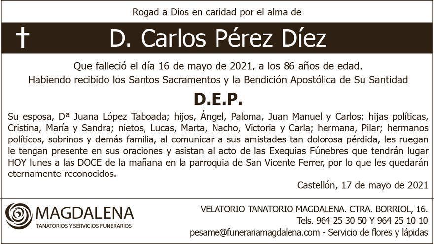 D. Carlos Pérez Díez