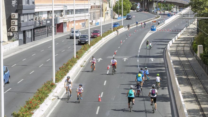 Apenas 200 personas participan en la Ciclovía 2020 de Alicante