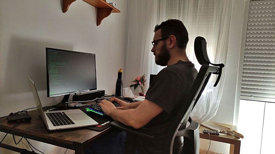 David Serrano, informático: Un sector donde el trabajo a distancia es la base