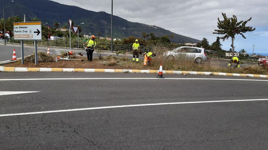 El Cabildo de Tenerife invierte cerca de 57.000 euros en la mejora paisajística de la TF-316