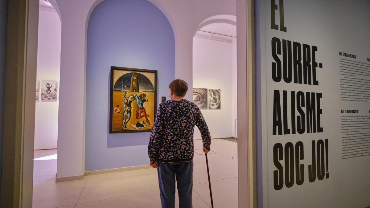 Imatge de l'exposició temporal dedicada al surrealisme.