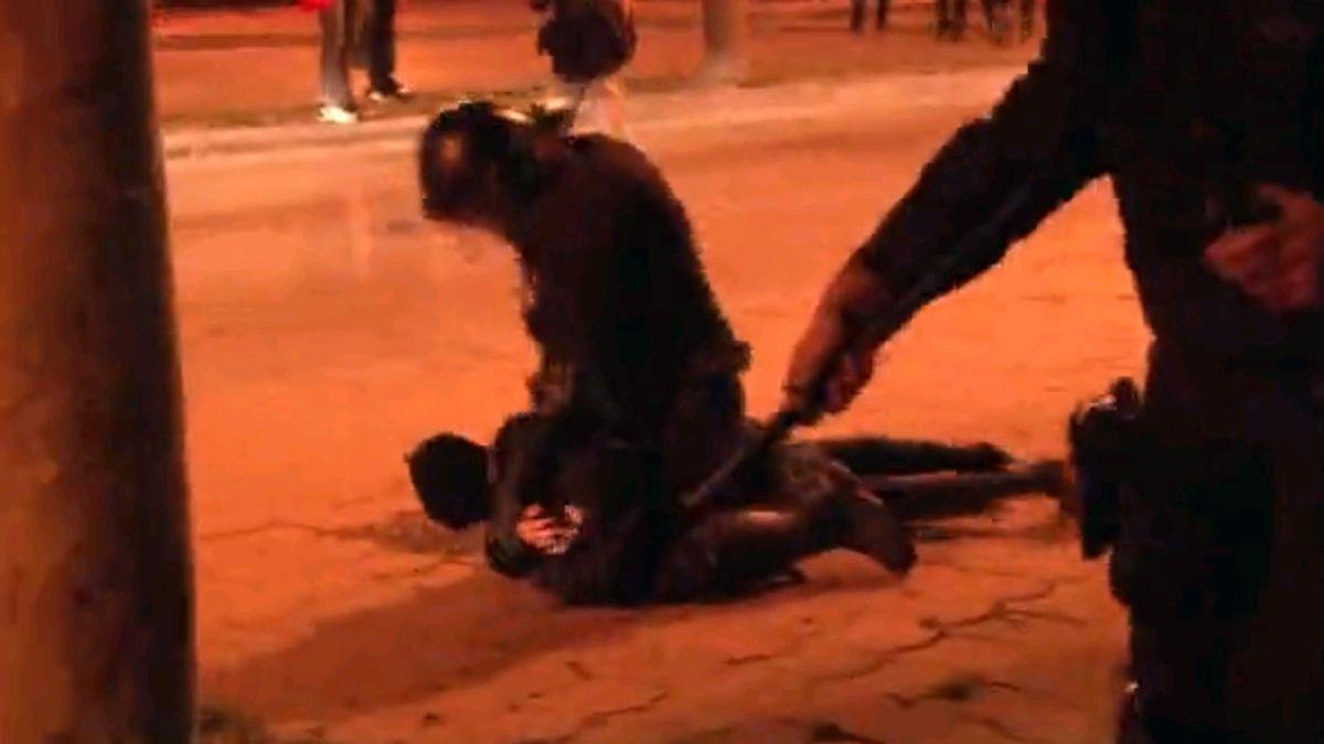 El candidato de la CUP por Gerona, herido en la manifestación por Hasél