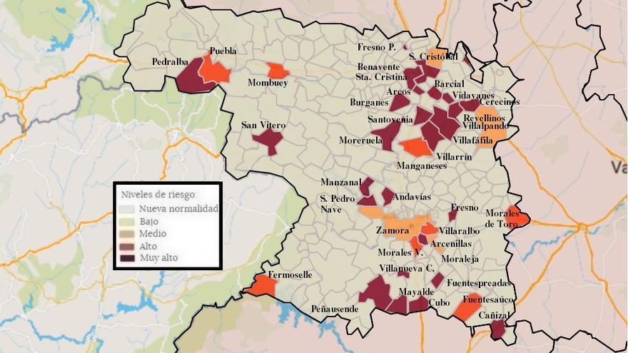 Mapa de coronavirus de Zamora, hoy, viernes | Los contagios se disparan en Benavente