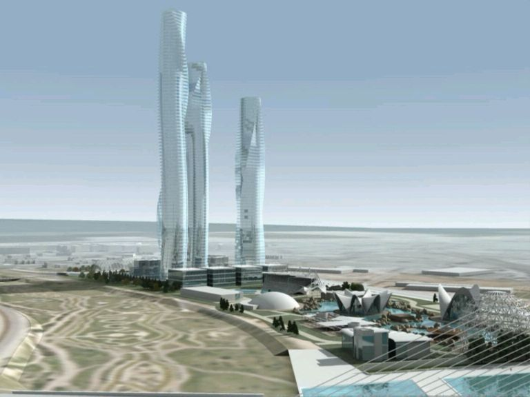 Así sería el 'skyline' de València con las fallidas Torres Calatrava