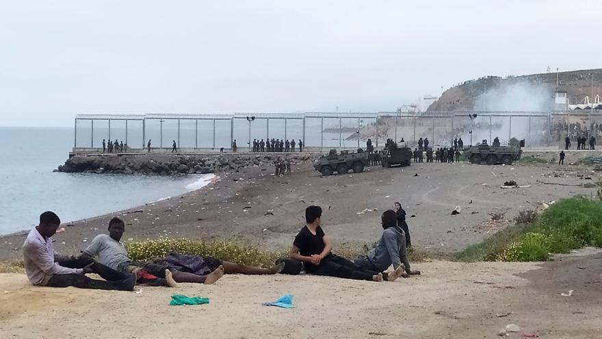 Más de 5000 personas llegan nadando a Ceuta