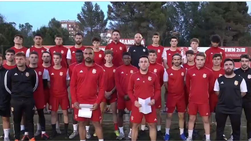 La plantilla del CE Manresa reclama jugar les eliminatòries d'ascens a Segona Divisió RFEF