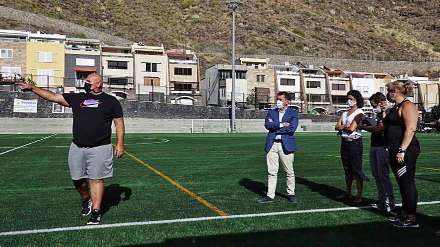Finaliza la primera fase de la obra de mejora del campo de fútbol de María Jiménez
