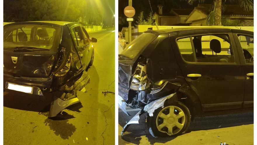 Una joven se graba conduciendo ebria, provoca un accidente y se da a la fuga en Castellón